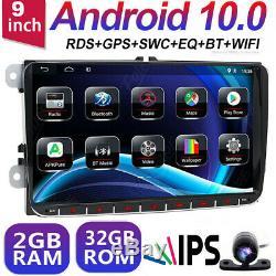 10.0 For Android Car Vw Passat Golf Touran Polo Eos Seat Dab + Wifi Gps Navi