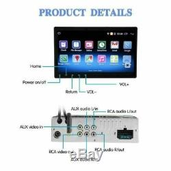 10.1 Android 1din Gps Navi Bluetooth Car Mp5 Player Touch Screen Camera +