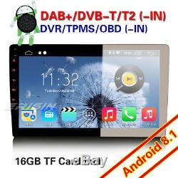 10.1 Dual Android 8.1 Car Audio Wifi 4g Dab + Sd Usb Rds Bt Obd Gps Tnt Navi