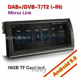 10.25 Dab + Autoradio Android 9.0 Navi Wifi Dvr Tnt 4g For Bmw 5er E39 X5 E53 M5