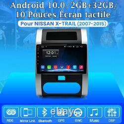 10 Android 10.0 Autoradio For Nissan X-trail 2007-2015 Gps Navi Dab Wifi 2-32g