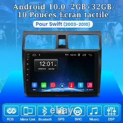 10android 10.0 Autoradio For Suzuki Swift 2003-2010 Gps Sat Navi Bt Dab+wifi
