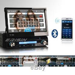1 Din Car Radio Only Removable Dab + Navi Bluetooth Gps Mirror DVD Dtv Fm 76588fr