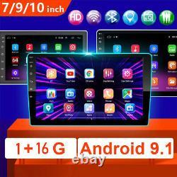 2 Din 10.1 Android Autoradio 9.1 Gps Navi Touchscreen Bt Wifi Mp5 Camera