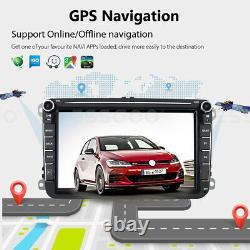 2 Din 8 Autoradio Android 2+32g Gps Navi + Camera For Vw Golf 5 Passat Tiguan