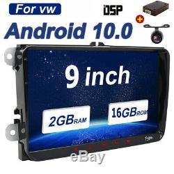 2 Din Car Gps Navi Android 10.0 Dsp For Vw Passat Golf Touran Tiguan Dab