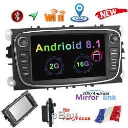 2 Din Car Gps Navi Android 8.1 Fm Für Ford Focus C-max Mondeo S-max Galaxy