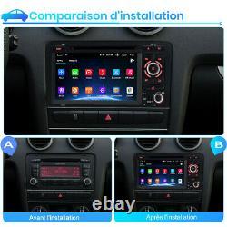 2din Autoradio For Audi A3 S3 Rs3 2003-2012 Android 10 Bt Gps Navi Dab Wifi CD