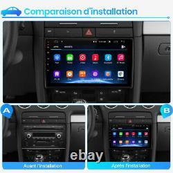 2din Autoradio For Audi A4 2000-2009 Android 10 Gps Navi Dab Wifi Dsp Usb 32g