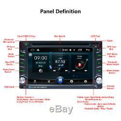 6.2 2 Din Android Car Radio Gps Navi Stereo Radio Car DVD Player Fm / Rds Bt