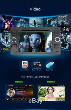 7 2 Din Car DVD Gps Navi Stereo Bt Dabfor Ford Focus / Transit / C-max / Fiesta