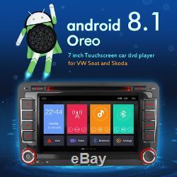 7 4g Android 8.1 Dab DVD Gps Navi Car Radio For Vw Passat Touran Golf 5 Sharan