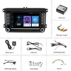 7 Autoradio 2 Din Android 8.1 Gps Navi Wifi Bluetooth For Vw Golf Passat Polo