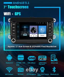 7 Autoradio Android 9.1 Rds Gps Navi 2 Din For Vw Golf 5 6 Variant Passat Polo