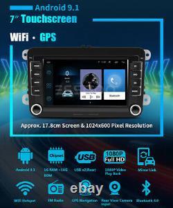 7 Autoradio Android 9.1 Rds Gps Navi Wifi Camera For Vw Golf 5 6 Variant Passat