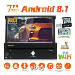 7'' Autoradio Gps Navi Android 8.1 Bluetooth Touch Screen Wifi 1din Mp5 Usb Fm