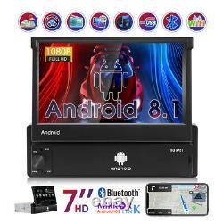 7'' Autoradio Gps Navi Android 8.1 Bluetooth Wi-fi Touchscreen 1din Mp5 Usb Fm