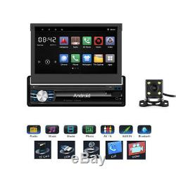 7 Car 1din Android Mp5 Player Stereo Fm To Gps Navi Bt 16g Wifi + Camera