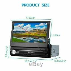 7 Car Radio 1din Android Stereo Mp5 Player Fm Aux Gps Navi Bt Wifi 16g + Camera