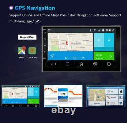 7'' Gps Car Navi Android 10.0 For Universal Touch Screen 4g Wifi Bt Swc Fm
