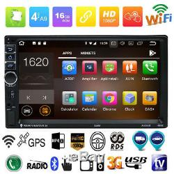 7''double Din Android 7.1 Car Gps Navi Stereo Bluetooth Wifi Touch Screen