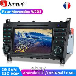 7android 10 Gps Radio Navi CD Dab Usb For Mercedes Benz Clk-w209 W203 C220
