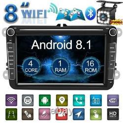 8 2din Autoradio Android 8.1 Gps Navi Bt Fm Am For Vw Golf 5 V 6 Passat-camera