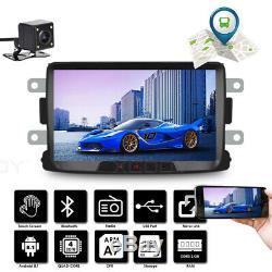 8 Android Car Gps Navi 2 Din + Camera For Renault Dacia Duster Sandero