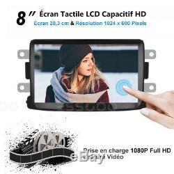 8 Android Car Gps Navi 2 Din + Camera For Renault Dacia Duster / Sandero