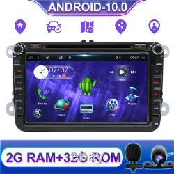 8 Autoradio For Vw Passat Golf Tiguan Jetta Seat Android 10.0 Gps Navi Car DVD