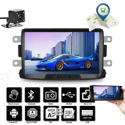 8 Car Stereo Android 8.1 Gps Navi 2 Din + Camera For Renault Dacia Duster