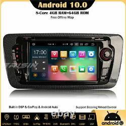 8-core Android 10.0 Autoradio For Seat Ibiza Gps Dab Carplay Obd2 Dsp Wifi Navi