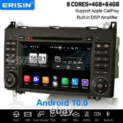 8-core Android 10.0 Dsp Autoradio Navi Mercedes Benz A/b Class Viano Vw Crafter