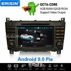 8-core Android 9.0 Dab + Car Mercedes Benz C / CLC / Clk-class W203 W209 Navi