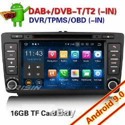 8android For Skoda Octavia 9.0 Car Gps Navi Rds Dab + Wifi 4g Tnt Bluetooth