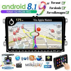 9 2 Din Autoradio Android Gps Navi For Vw Golf5 Passat Tiguan Touran + Camera