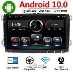 9 '' 2 Din Car Stereo Gps Navi 32g For Vw Passat Golf Polo T5 Android 10.0