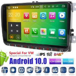 9 32gb Android 9.0 Car Gps Sat Navi Dab Wifi Usb For Vw Golf 6 May Passat