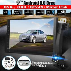 9 Android 8.0 Bluetooth Gps Navi Sat Obd Dab Wifi Camera For Bmw E46