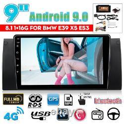 9'' Android 8.1 Autoradio Stereo Navi Mp4 Wifi Bluetooth For Bmw E38 E39 E53 X5