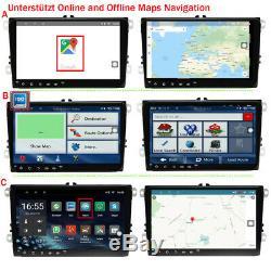 9 Android 8.1 Car Gps Navi Bt Usb Sd For Vw Passat Golf Polo Polo Polo Shirt