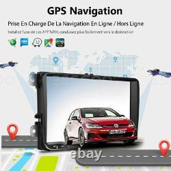 9 Autoradio Android Gps Navi 2 Din - Camera For Vw Golf 5 Variant Passat Tiguan