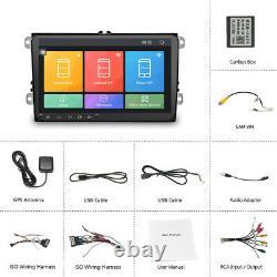 9 Autoradio For Vw Polo Passat Golf Touran 2din Android 8.1 Gps Navi Bluetooth