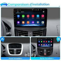 9 Autoradio Stereo Android 10.0 Gps Navi Wifi Dab For Peugeot 207 2006-2015