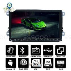9 Autoradio Stereo Android Gps Navi Rds For Vw Golf 5 6 Passat Touran Polo Eos