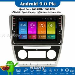 9 Dsp Car Android 9.0 Wifi Gps Navi Dab + Carplay Tnt Obd For Skoda Octavia