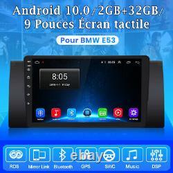 9autoradio Android10.0 Dab Gps Navi For Bmw X5 M5 E53 Dsp Wifi Bluetooth Usb