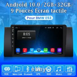 9autoradio Android10 For Bmw X5 M5 E53 Dab-gps Navi Dsp Wifi Bluetooth Usb Rds