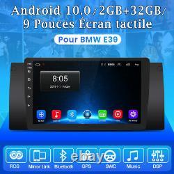 9autoradio Android 10.0 Dab Gps Navi For Bmw E39 5er Dsp Wifi 2+32g Bluetooth