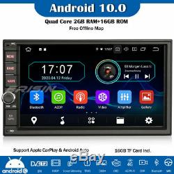 Android 10.0 Car Double Din Gps Wifi Dab + Tnt Carplay Navi Usb + Sd Dvr Obd2